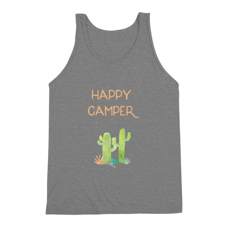 Happy Camper Men's Triblend Tank by Pen & Paper Design's Shop