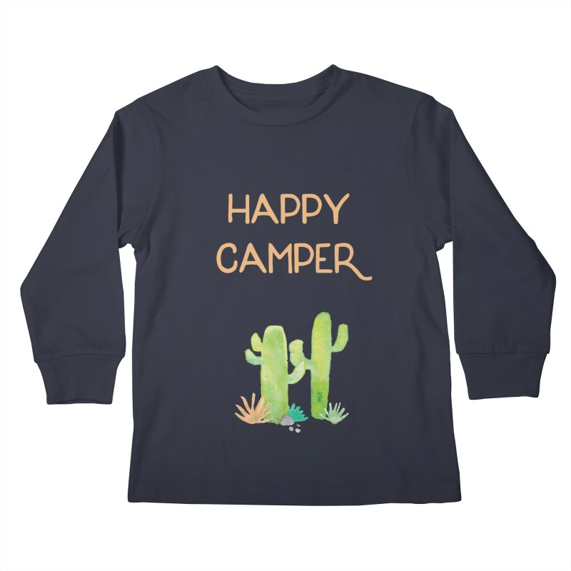Happy Camper Kids Longsleeve T-Shirt by Pen & Paper Design's Shop