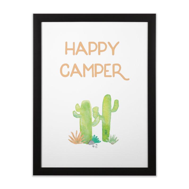 Happy Camper Home Framed Fine Art Print by Pen & Paper Design's Shop