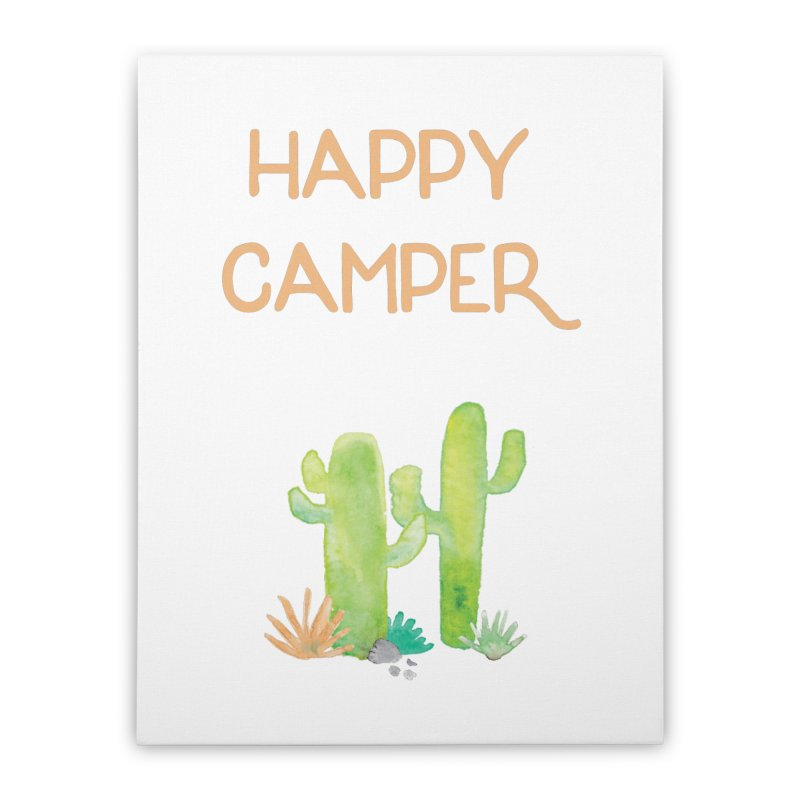 Happy Camper Home Stretched Canvas by Pen & Paper Design's Shop