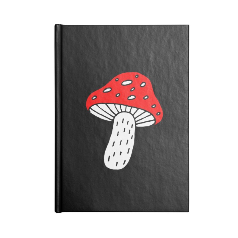 Mushroom Vibes Accessories Lined Journal Notebook by PENARULIT illustration