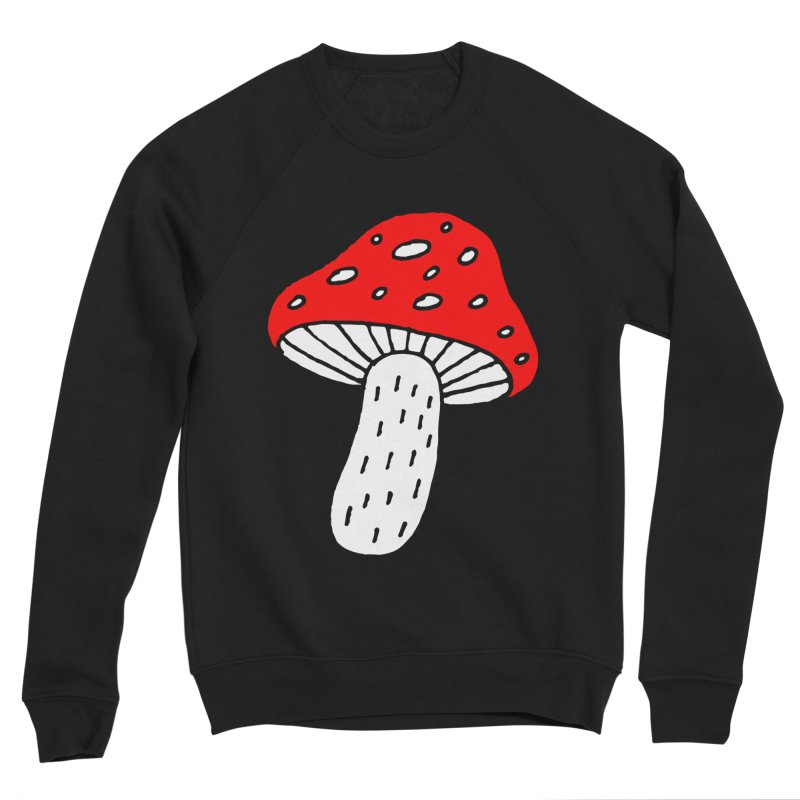 Mushroom Vibes Women's Sponge Fleece Sweatshirt by Ekaterina Zimodro's Artist Shop
