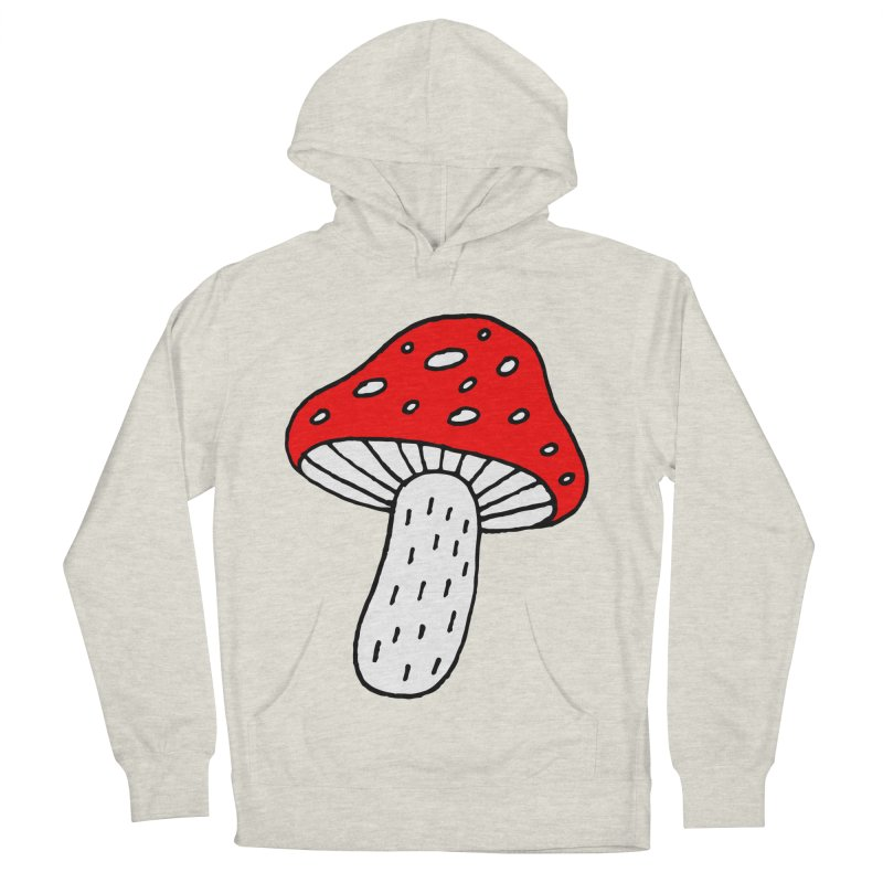 Mushroom Vibes Women's French Terry Pullover Hoody by Ekaterina Zimodro's Artist Shop