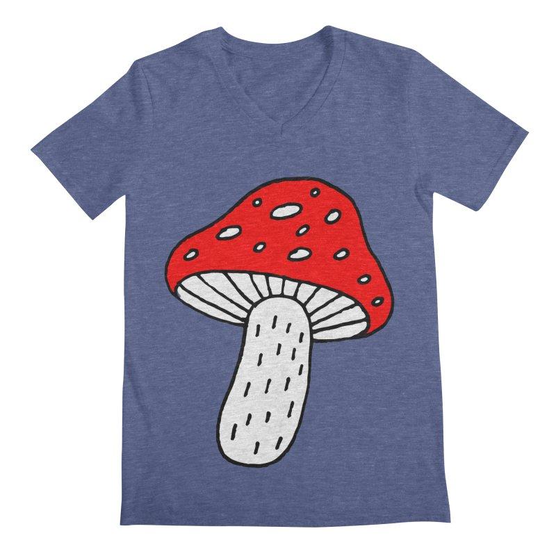 Mushroom Vibes Men's Regular V-Neck by Ekaterina Zimodro's Artist Shop