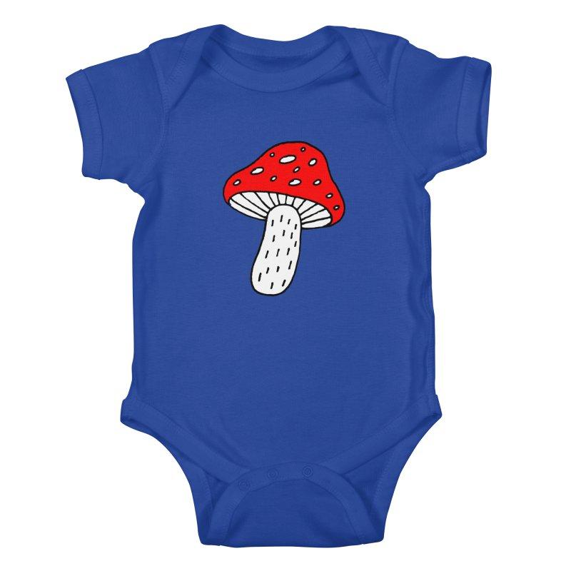 Mushroom Vibes Kids Baby Bodysuit by Ekaterina Zimodro's Artist Shop