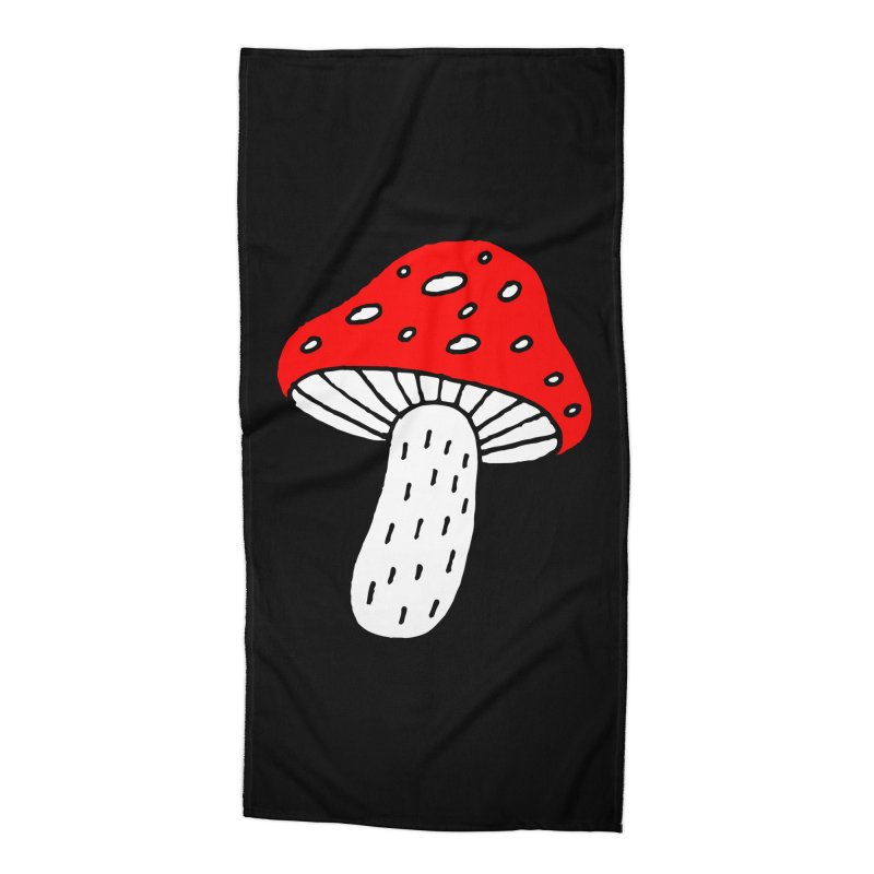 Mushroom Vibes Accessories Beach Towel by PENARULIT illustration