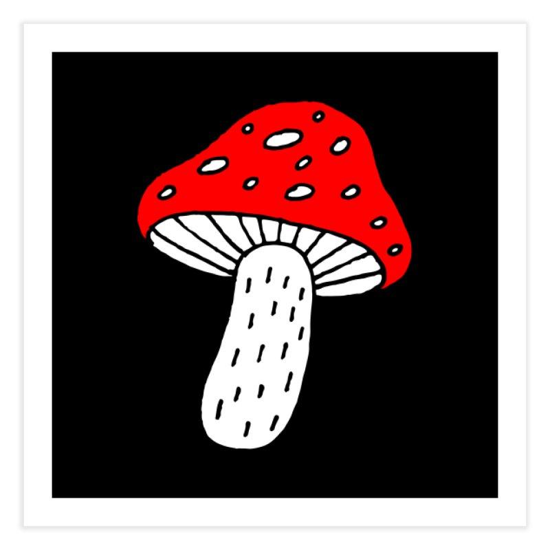 Mushroom Vibes Home Fine Art Print by Ekaterina Zimodro's Artist Shop