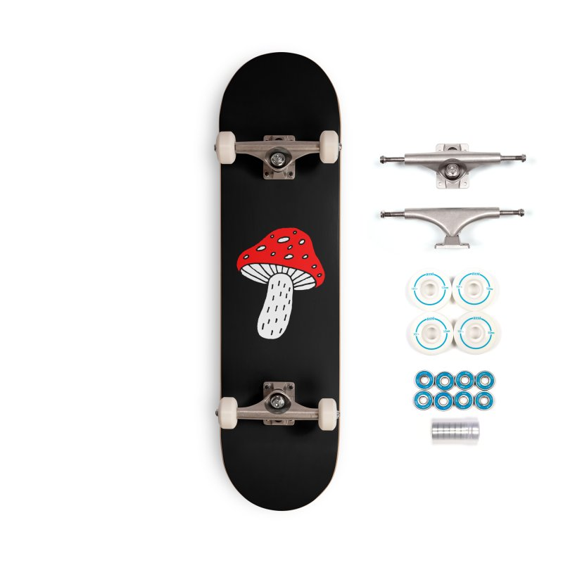 Mushroom Vibes Accessories Complete - Basic Skateboard by PENARULIT illustration