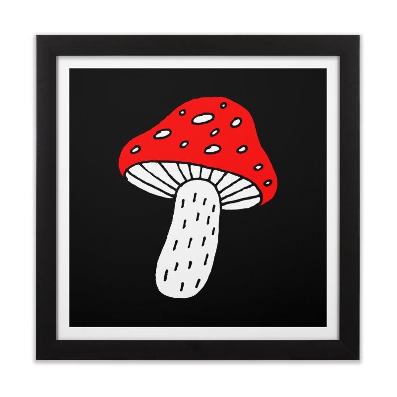 Mushroom Vibes Home Framed Fine Art Print by PENARULIT illustration