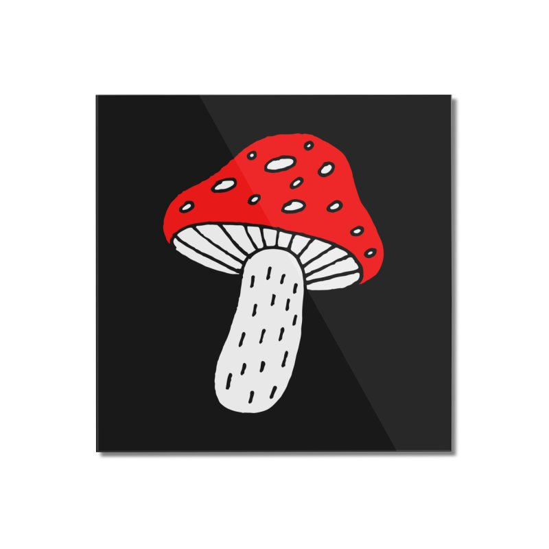 Mushroom Vibes Home Mounted Acrylic Print by Ekaterina Zimodro's Artist Shop