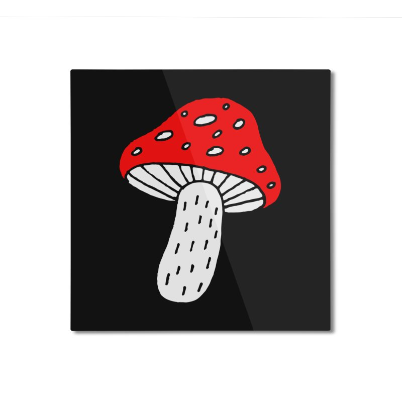 Mushroom Vibes Home Mounted Aluminum Print by PENARULIT illustration