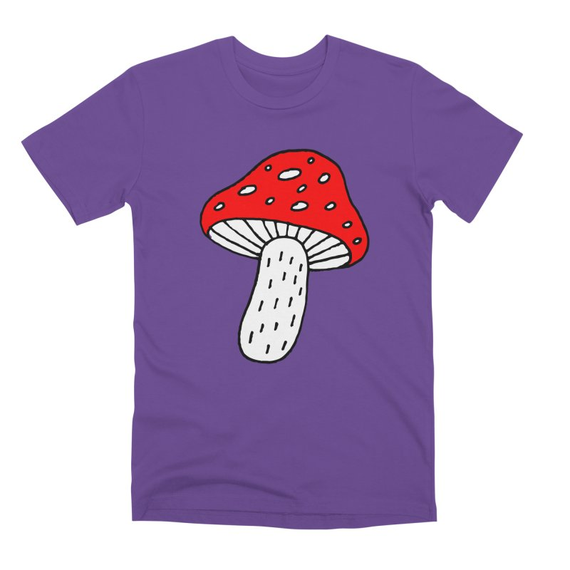 Mushroom Vibes Men's Premium T-Shirt by Ekaterina Zimodro's Artist Shop