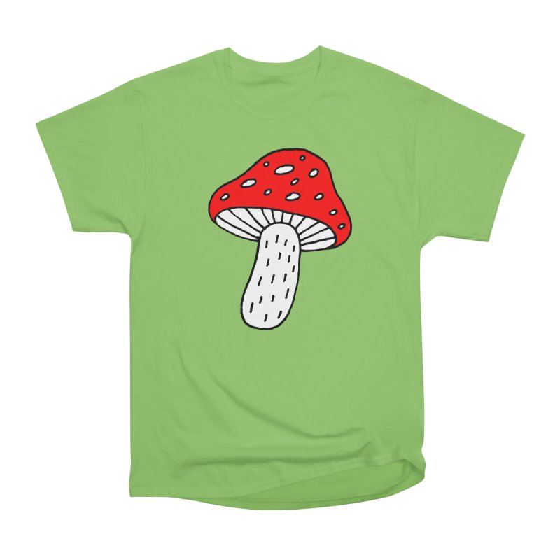 Mushroom Vibes Women's Heavyweight Unisex T-Shirt by PENARULIT illustration