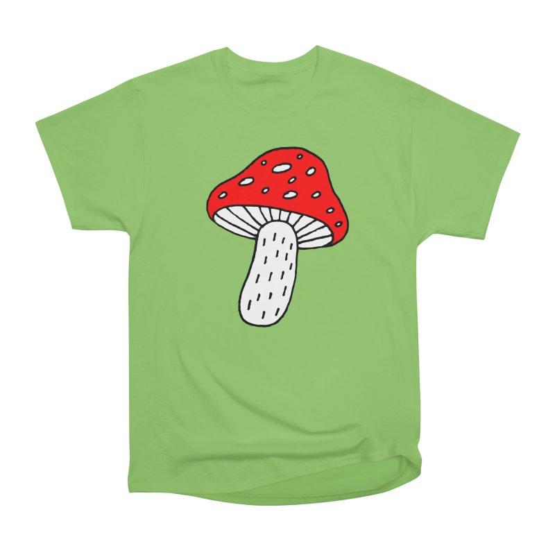 Mushroom Vibes Men's Heavyweight T-Shirt by PENARULIT illustration