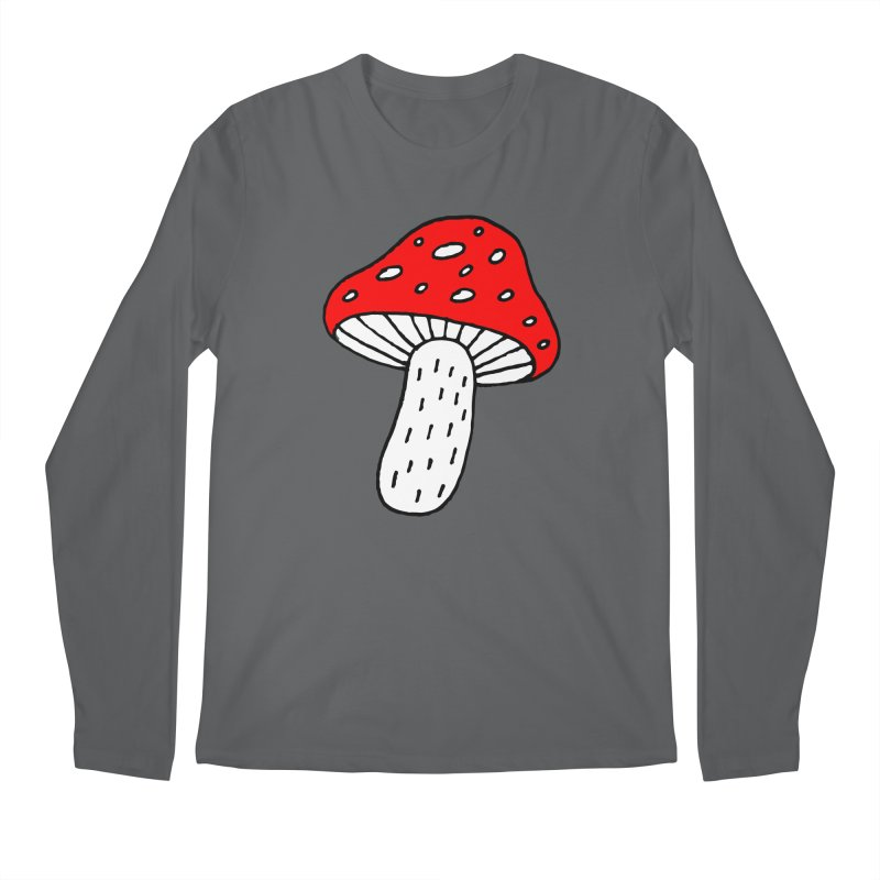 Mushroom Vibes Men's Longsleeve T-Shirt by PENARULIT illustration