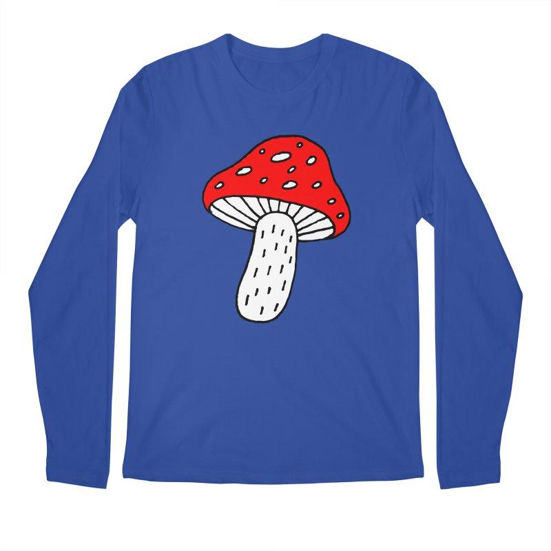 Mushroom Vibes Men's Regular Longsleeve T-Shirt by PENARULIT illustration