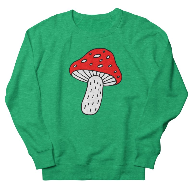 Mushroom Vibes Women's French Terry Sweatshirt by PENARULIT illustration
