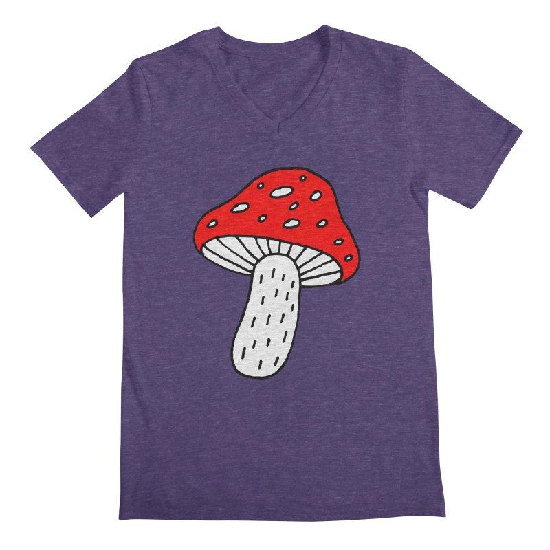 Mushroom Vibes Men's Regular V-Neck by PENARULIT illustration