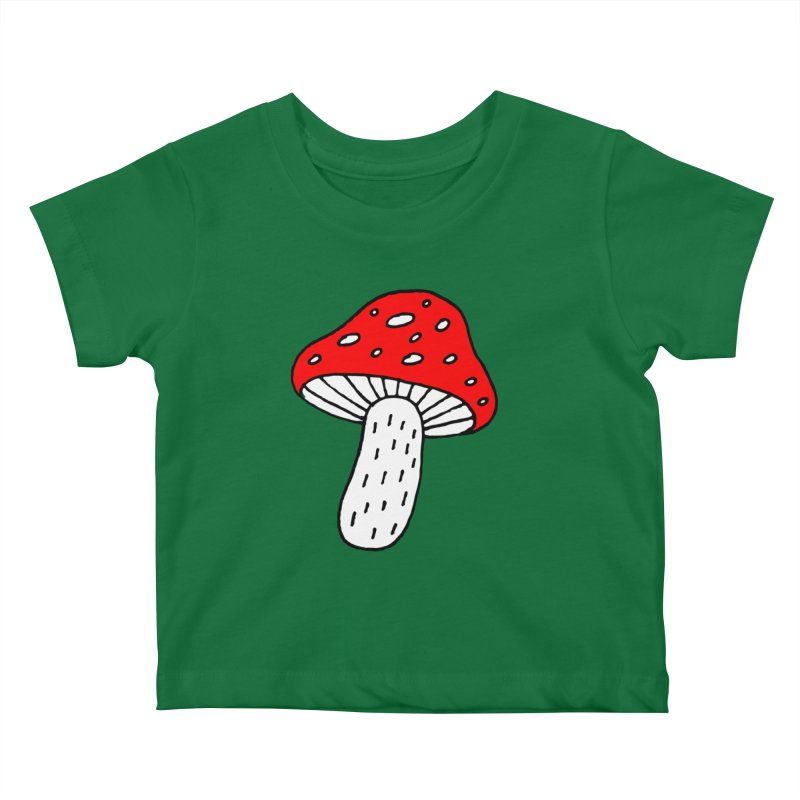 Mushroom Vibes Kids Baby T-Shirt by PENARULIT illustration