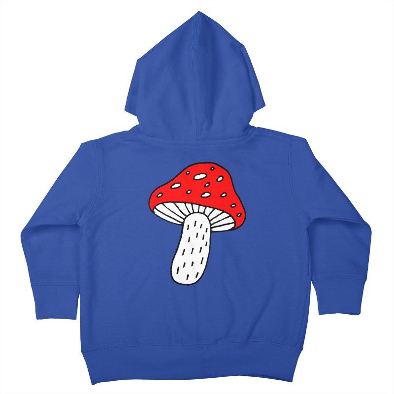 Mushroom Vibes Kids Toddler Zip-Up Hoody by PENARULIT illustration