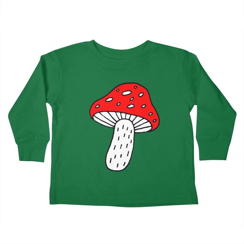 Mushroom Vibes Kids Toddler Longsleeve T-Shirt by PENARULIT illustration