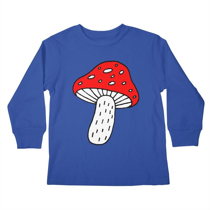 Mushroom Vibes Kids Longsleeve T-Shirt by PENARULIT illustration