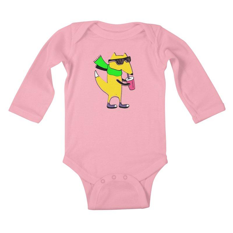 Enjoy Today Kids Baby Longsleeve Bodysuit by PENARULIT illustration