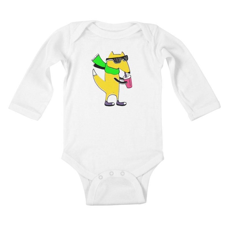 Enjoy Today Kids Baby Longsleeve Bodysuit by Ekaterina Zimodro's Artist Shop