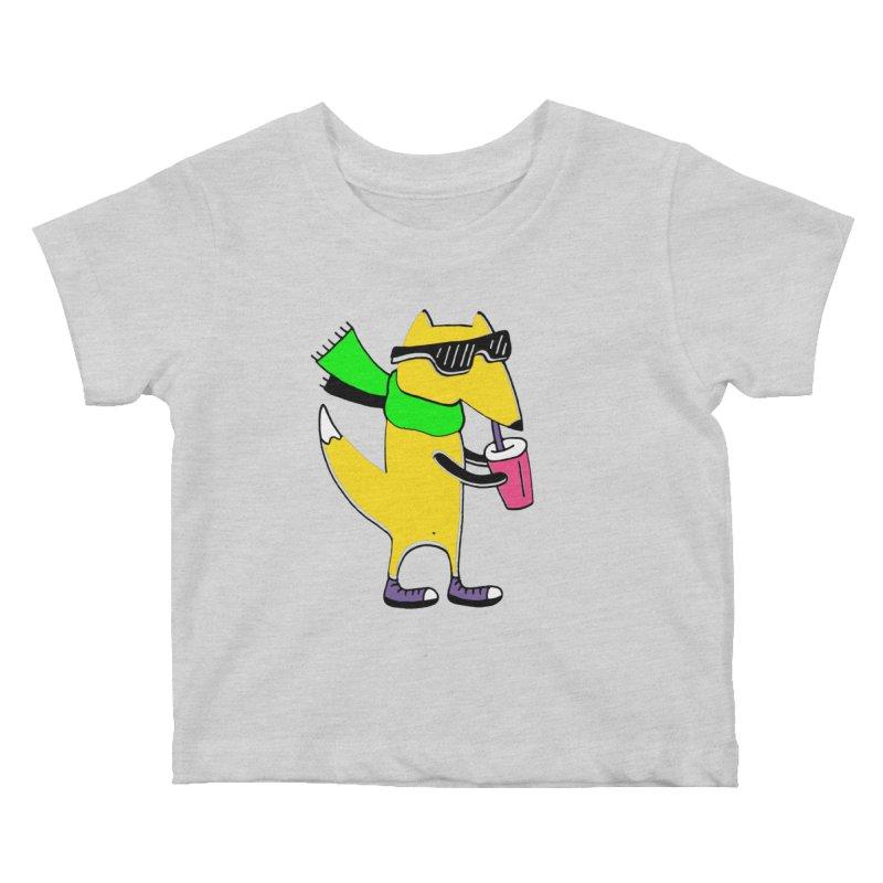 Enjoy Today Kids Baby T-Shirt by PENARULIT illustration