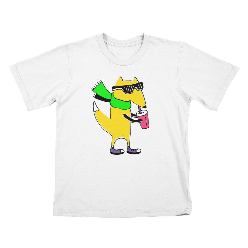 Enjoy Today Kids T-Shirt by PENARULIT illustration