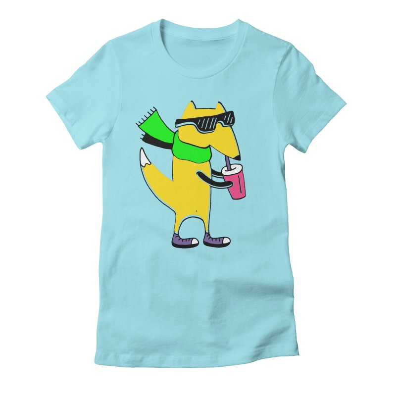 Enjoy Today Women's Fitted T-Shirt by PENARULIT illustration