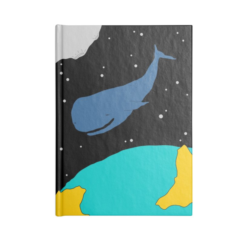 Space Whale Accessories Blank Journal Notebook by PENARULIT illustration