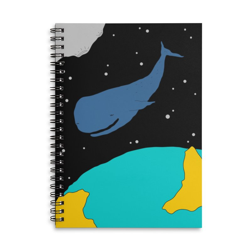 Space Whale Accessories Notebook by PENARULIT illustration