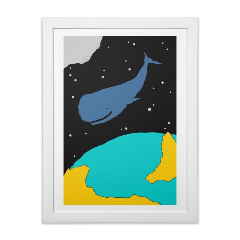 Space Whale Home Framed Fine Art Print by PENARULIT illustration