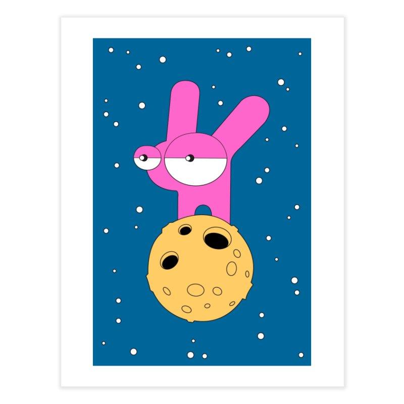 Moon Rabbit Moods Home Fine Art Print by Ekaterina Zimodro's Artist Shop