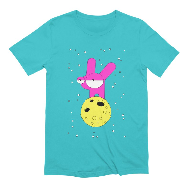 Moon Rabbit Moods Men's Extra Soft T-Shirt by PENARULIT illustration