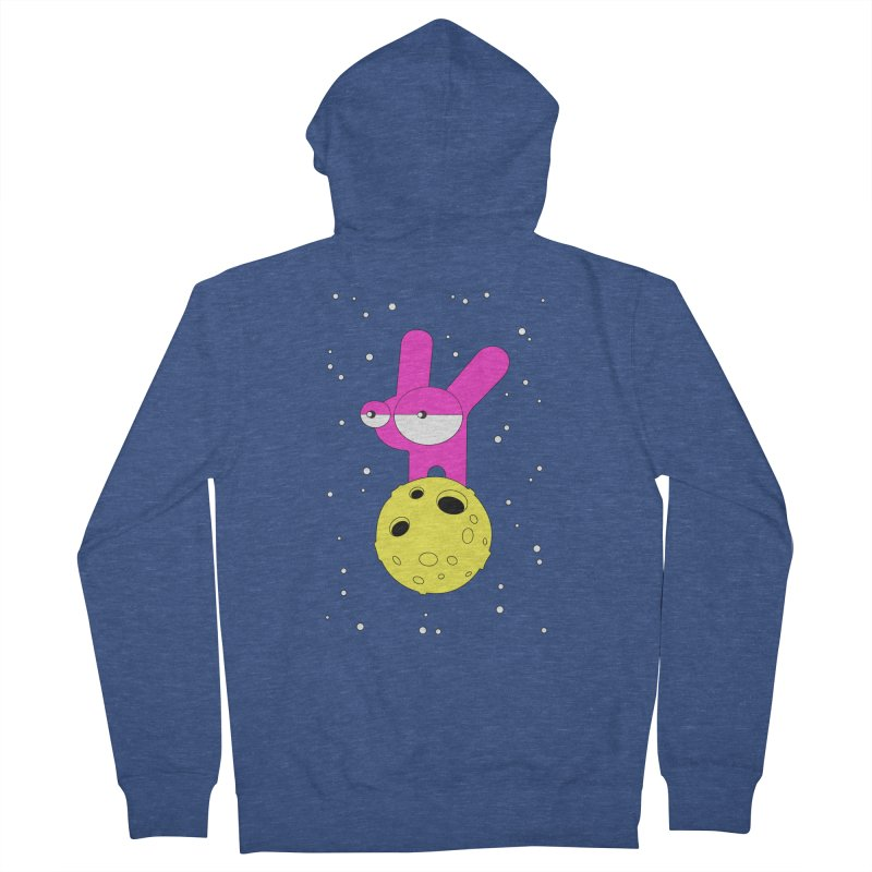 Moon Rabbit Moods Men's Zip-Up Hoody by PENARULIT illustration