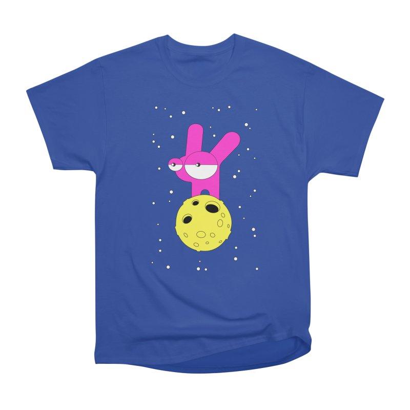 Moon Rabbit Moods Women's Heavyweight Unisex T-Shirt by PENARULIT illustration