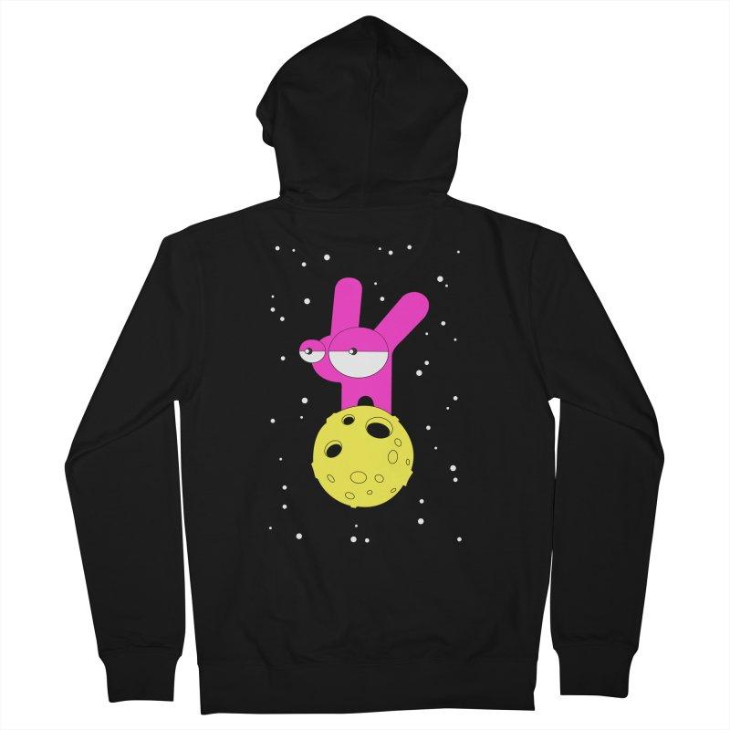 Moon Rabbit Moods Women's French Terry Zip-Up Hoody by PENARULIT illustration