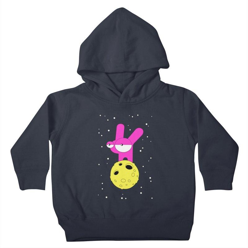 Moon Rabbit Moods Kids Toddler Pullover Hoody by PENARULIT illustration