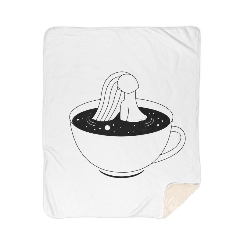 Coffee Time Home Sherpa Blanket Blanket by Ekaterina Zimodro's Artist Shop