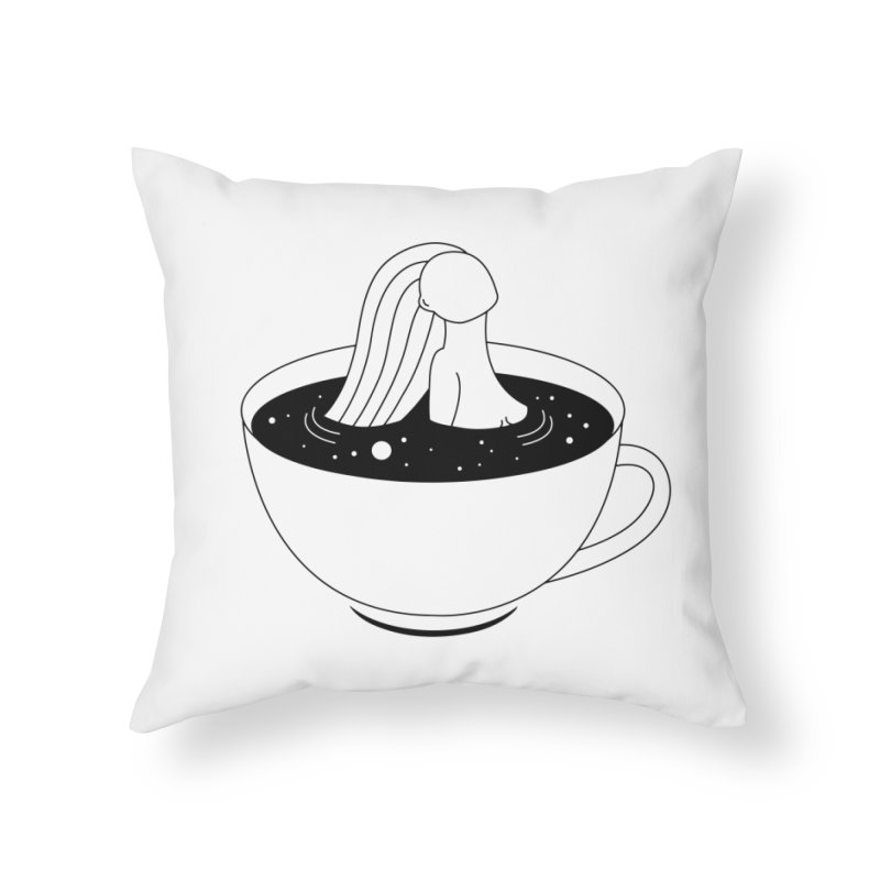 Coffee Time Home Throw Pillow by Ekaterina Zimodro's Artist Shop