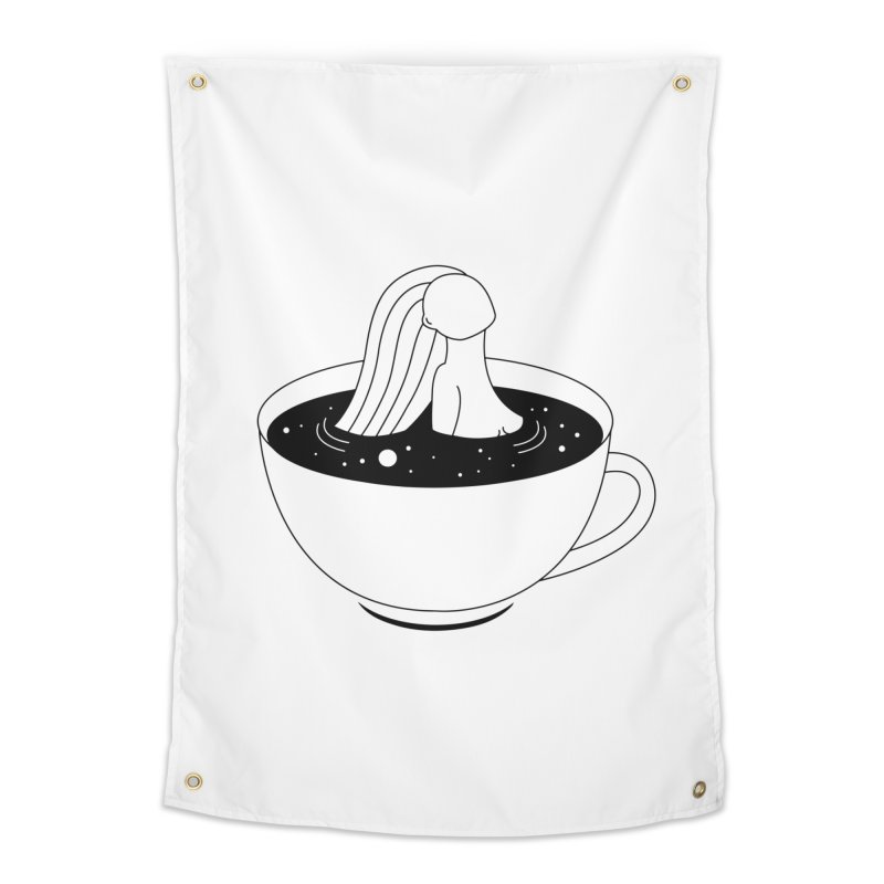 Coffee Time Home Tapestry by PENARULIT illustration