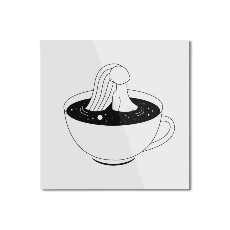 Coffee Time Home Mounted Aluminum Print by PENARULIT illustration