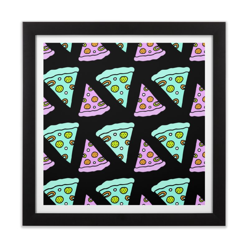 All You Need Is Pizza Home Framed Fine Art Print by PENARULIT illustration