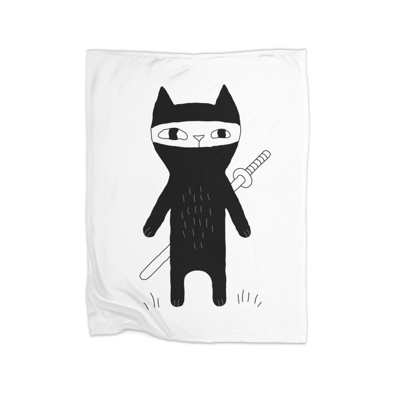 Ninja Cat Home Blanket by PENARULIT's Artist Shop