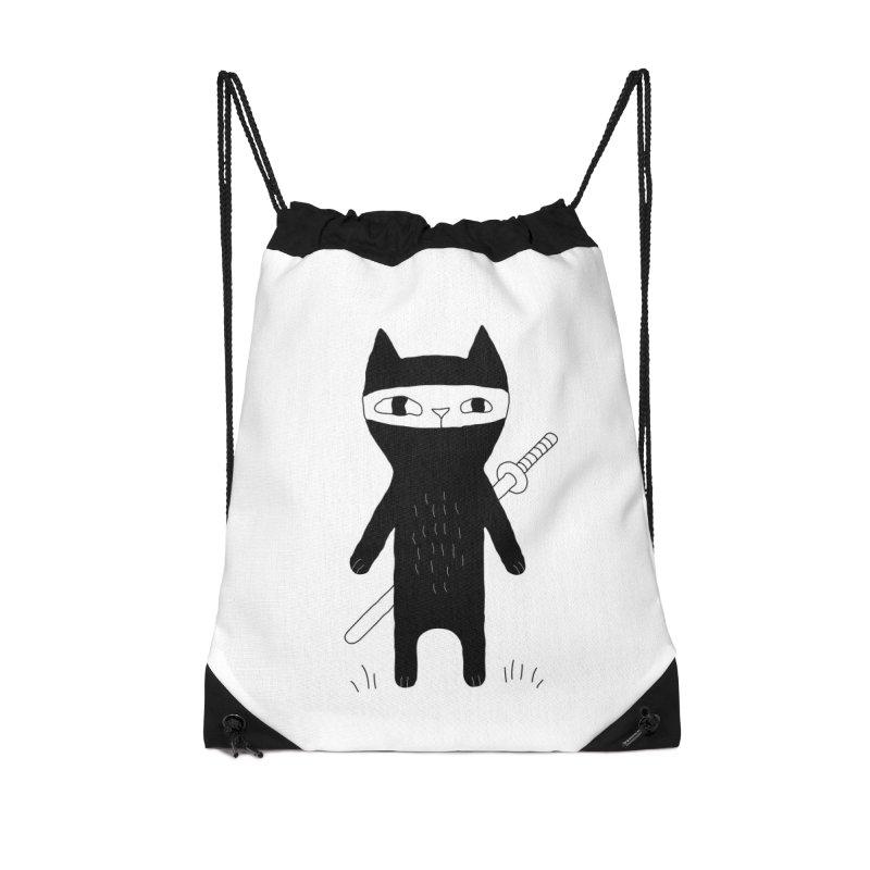 Ninja Cat Accessories Bag by PENARULIT's Artist Shop