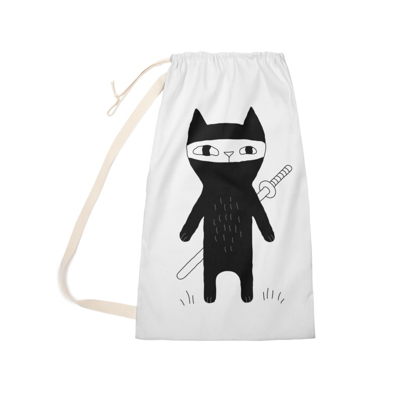 Ninja Cat Accessories Laundry Bag Bag by PENARULIT's Artist Shop