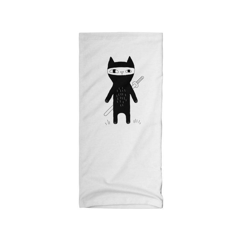 Ninja Cat Accessories Neck Gaiter by Ekaterina Zimodro's Artist Shop