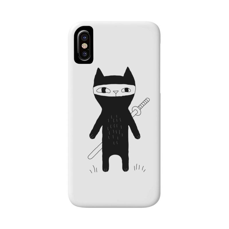 Ninja Cat Accessories Phone Case by Ekaterina Zimodro's Artist Shop